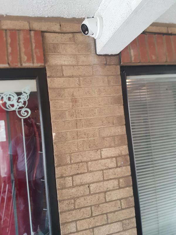 Image 19 - Discreet cable and camera installation 5mp hikvision network camera installed on a customers business