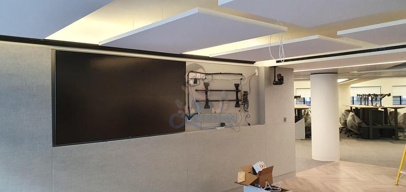 Image 33 - Video wall mid installation neatly retained cabling