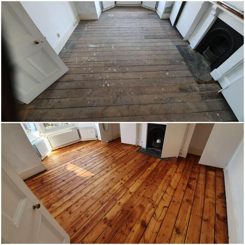 Image 44 - Before and after floorboard restoration and oiling
