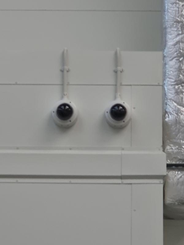 Image 5 - Customer required two cameras to observe two different entrances in to the building.