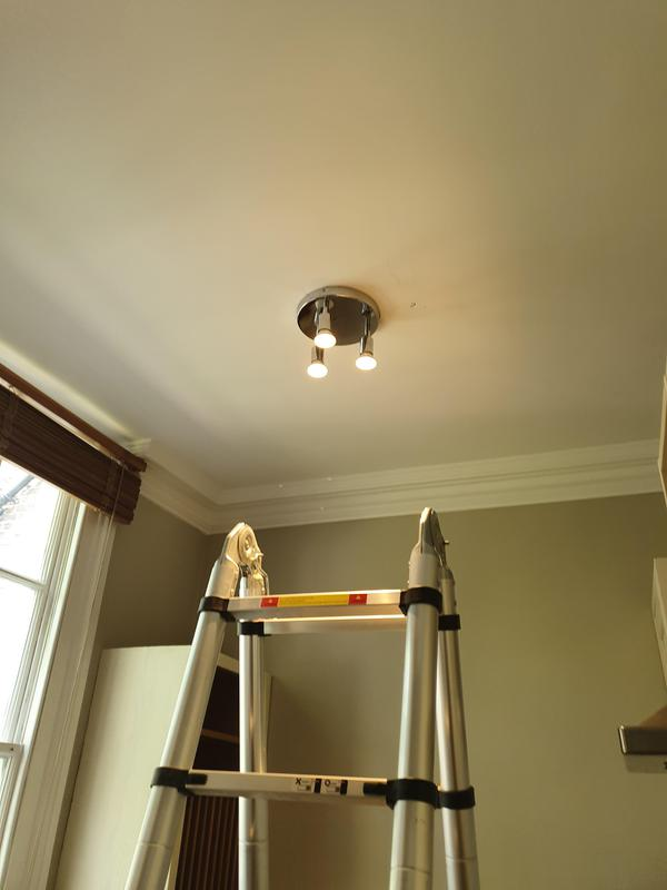 Image 27 - New kitchen chrome light fitting