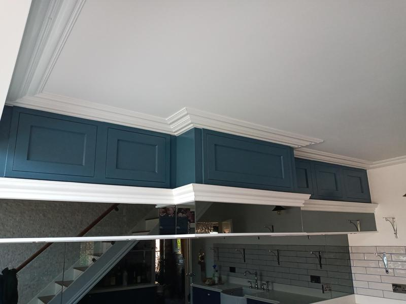 Image 6 - Kitchen cabinets after spray works.