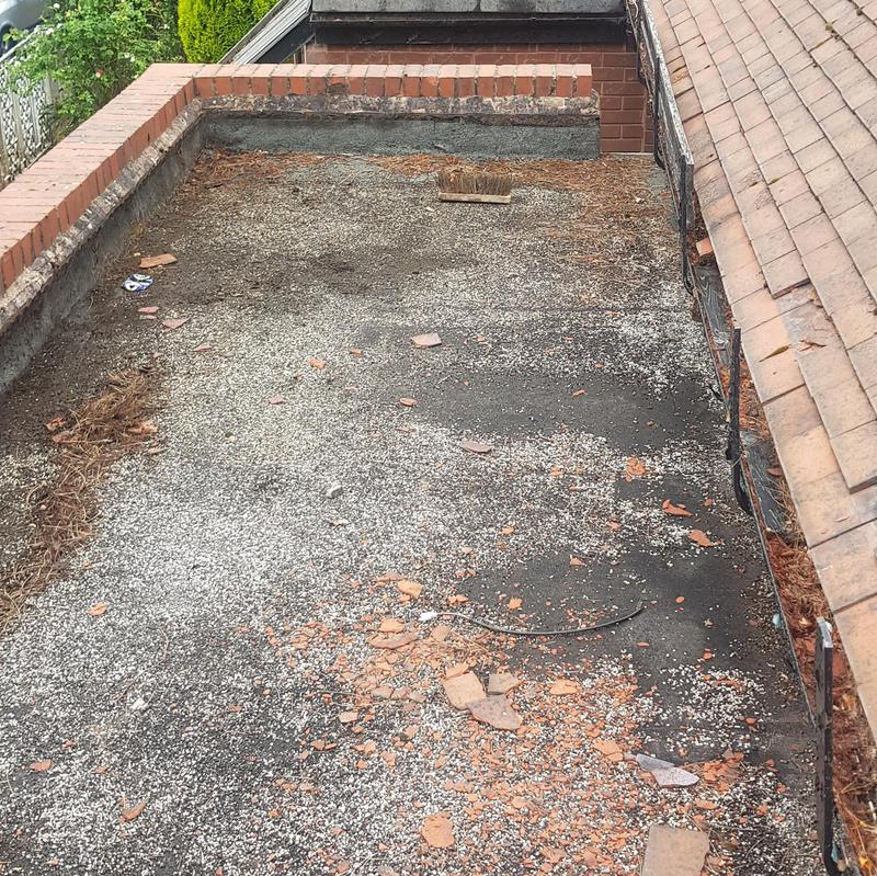 Image 35 - Existing flat roof was leaking. We installed a timber frame with insulation and fitted it with EPDM.