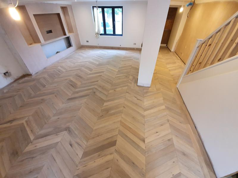 Image 36 - Chevron flooring done