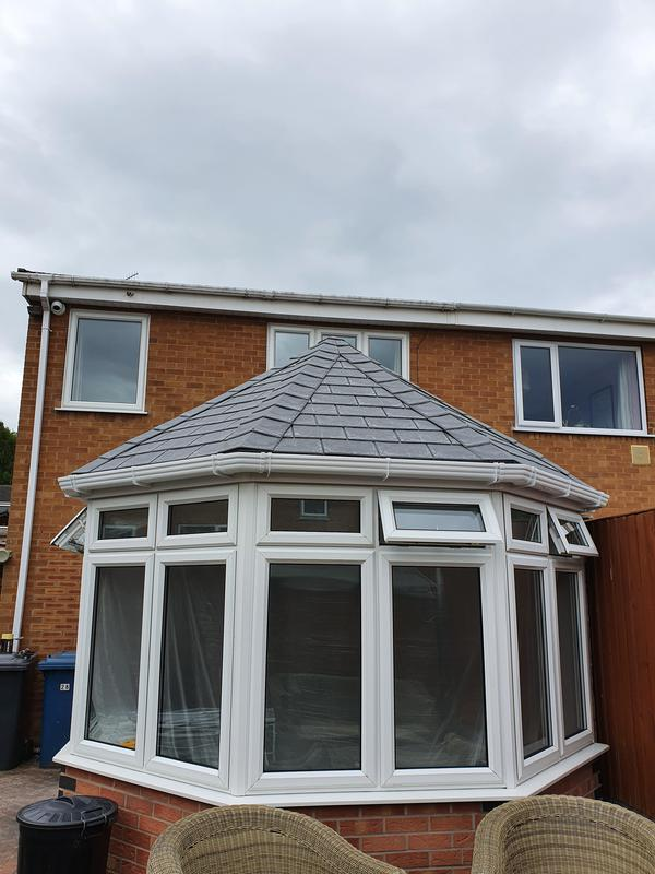 Image 39 - Front view of a Warmer roof Victorian shaped conservatory