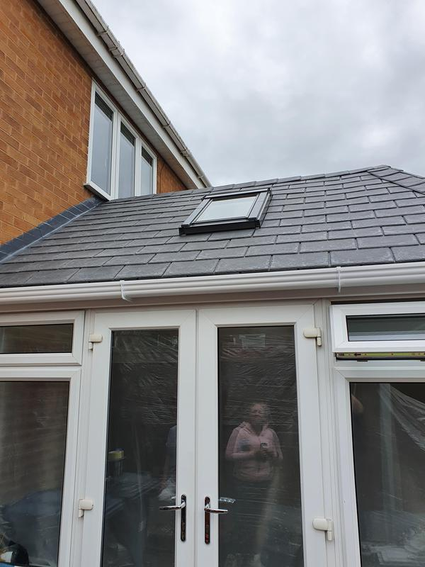 Image 37 - side view of Warmer roof system installed in Cotgrave.