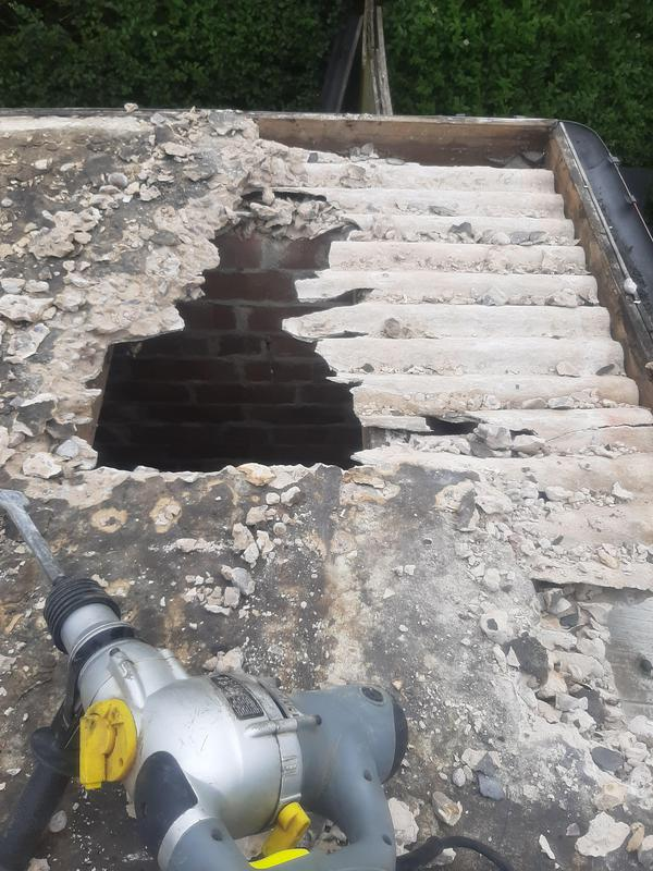 Image 4 - Concrete been placed on Asbestos sheets.....