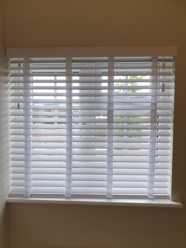 Image 24 - Faux wood white venetians with matching tapes fitted for a customer in Orpington.