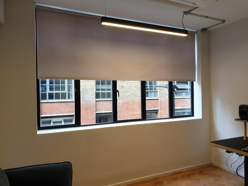 Image 29 - Large Scale Installation of Electric Roller Blinds over 3 floors and 34 high end media suites. We manufacture, fit and maintain motorised Roller Blinds throughout the South East and London.