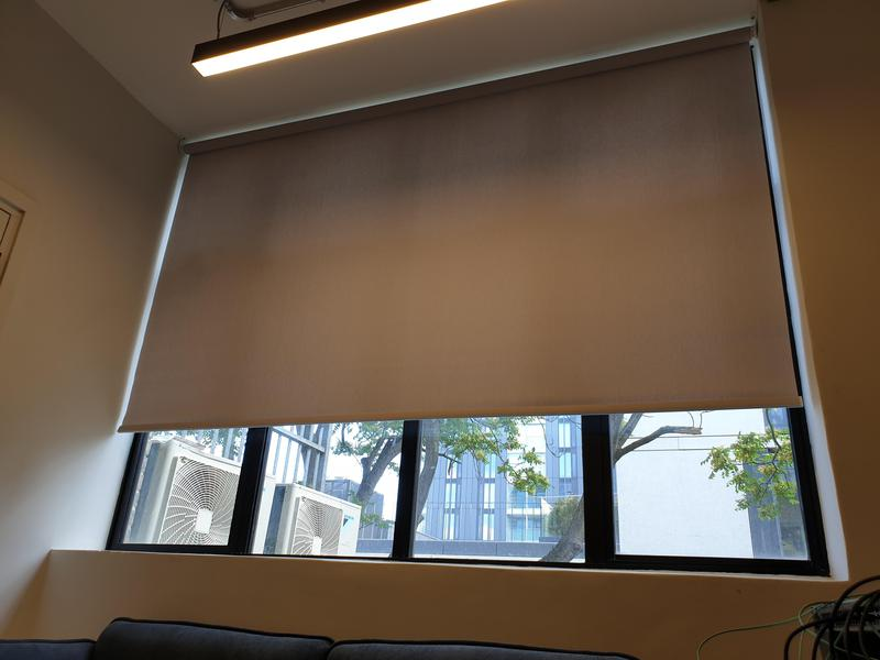 Image 31 - Large Scale Installation of Electric Roller Blinds over 3 floors and 34 high end media suites. We manufacture, fit and maintain motorised Roller Blinds throughout the South  East and London.