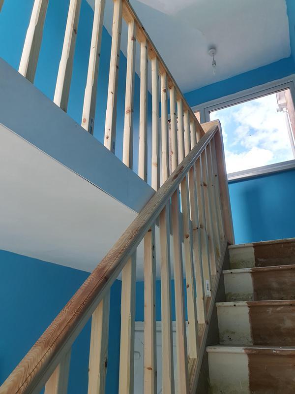 Image 32 - pine handrail etc with custom made newel posts