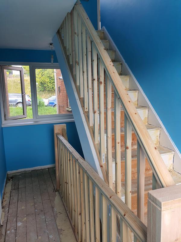 Image 30 - pine handrail etc with custom made newel posts