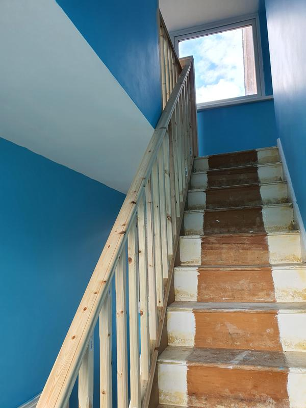 Image 29 - pine handrail etc with custom made newel posts