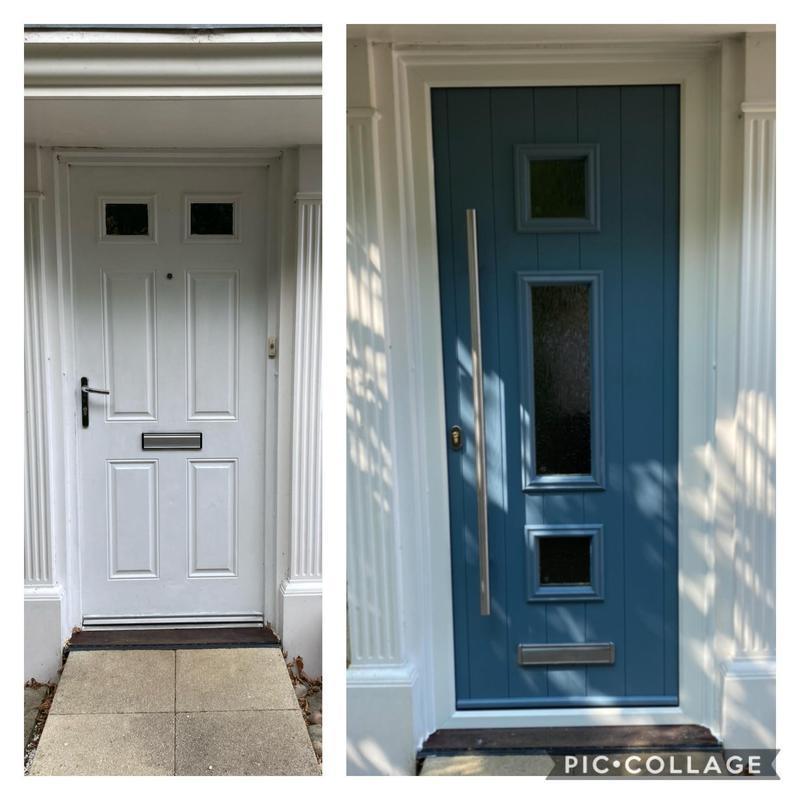 Image 25 - Beautiful Twilight Grey Long Bar Handle Composite Door