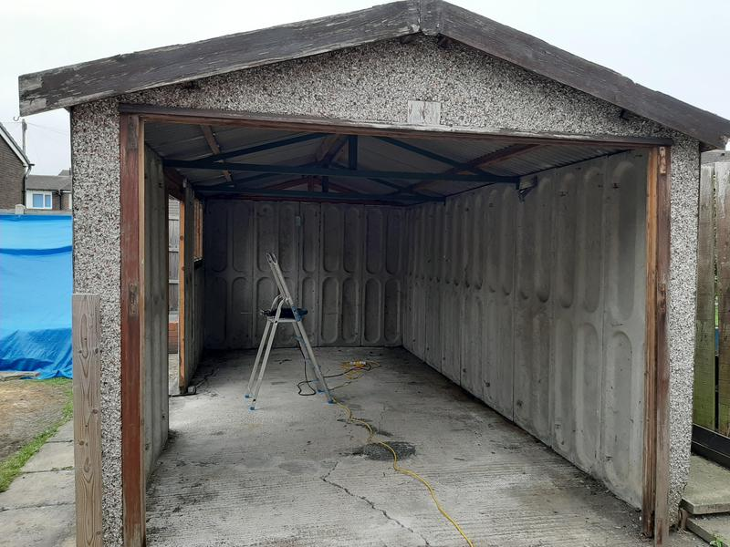 Image 12 - Garage Asbestos roof removal and complete removal of sectional garage....