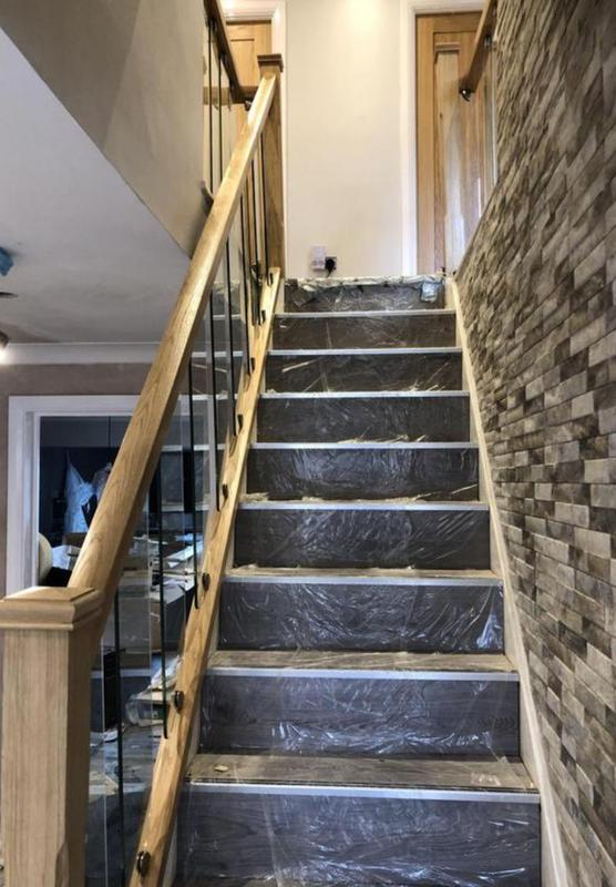 Image 22 - Flooring and oak handrail