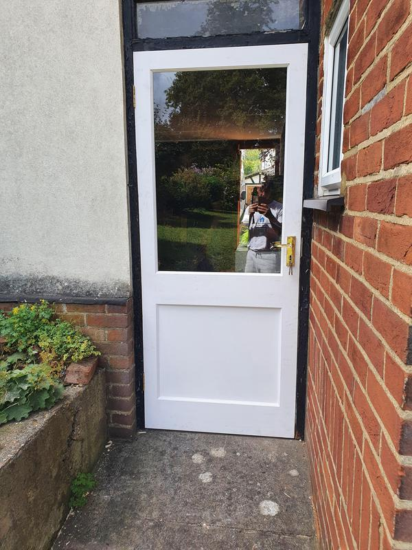 Image 16 - New door supplied and fitted with an uncoat ready for the customer to put there stamp on it.