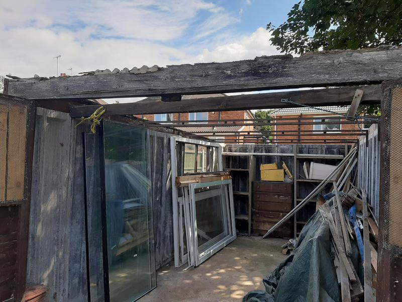 Image 14 - Yet another safe removal and disposal of a garage Asbestos roof.