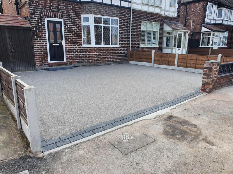 Image 23 - UV stable resin drive completed. Full excavation, sub-base and concrete installed and resin laid.