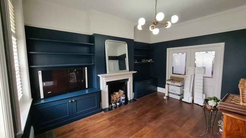 Image 4 - Room painted in Farrow & Ball Hague Blue No'30 and Farrow & Ball Strong White woodwork.