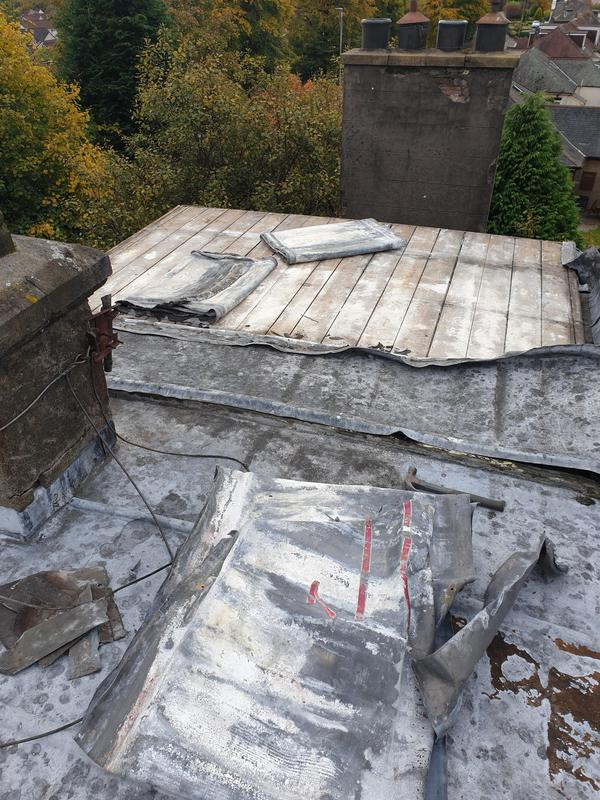 Image 9 - Old lead roof getting striped as was letting water increase