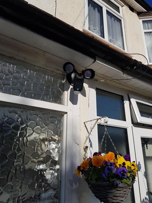 Image 12 - Wimbledon - Ring camera/motion detector floodlights installation - Front of house.