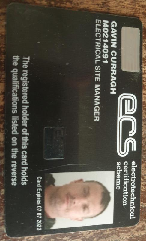 Image 38 - My JIB site managers card