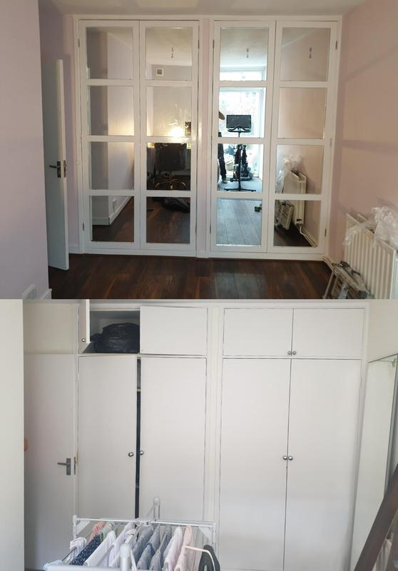 Image 24 - Mirrored glass wardrobe doors built and painted to replace the originals