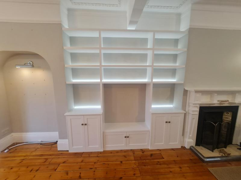 Image 31 - Bespoke alcove units with LED strips, Epping
