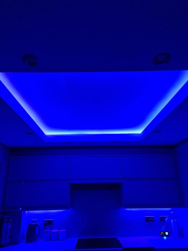 Image 4 - Kitchen ceiling with a coffer and LED lighting