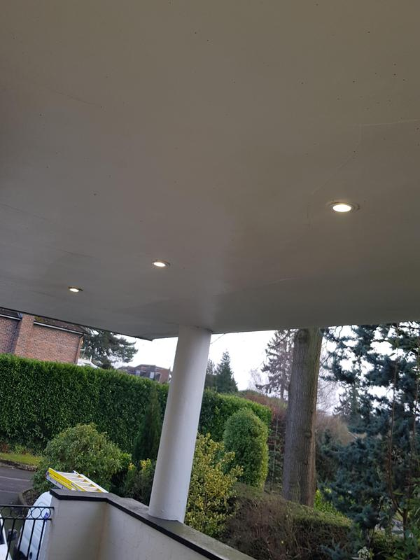 Image 14 - Iver - Balcony LED downlights installed.