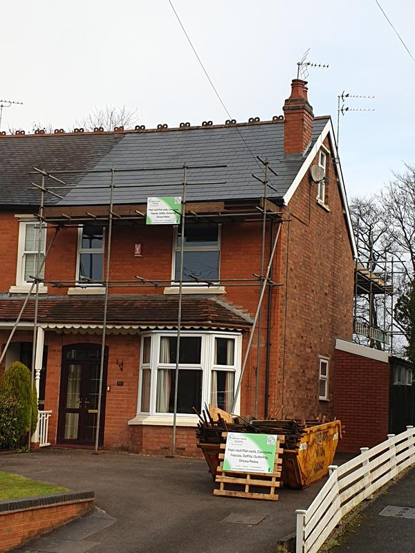 Image 2 - Installation of a new slated roof.