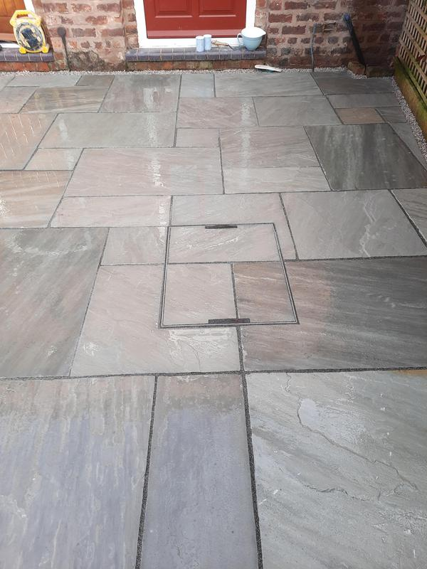 Image 4 - We used a recessed manhole cover with the aim to blend it completely into the patio area whilst leaving full accessibility if required.