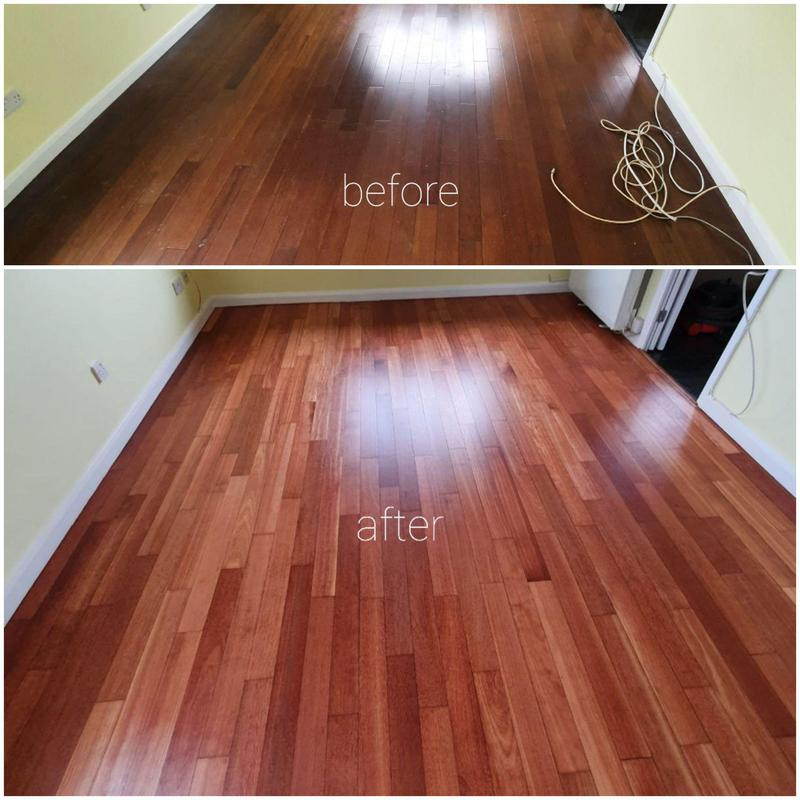 Image 5 - Sanding job before and after