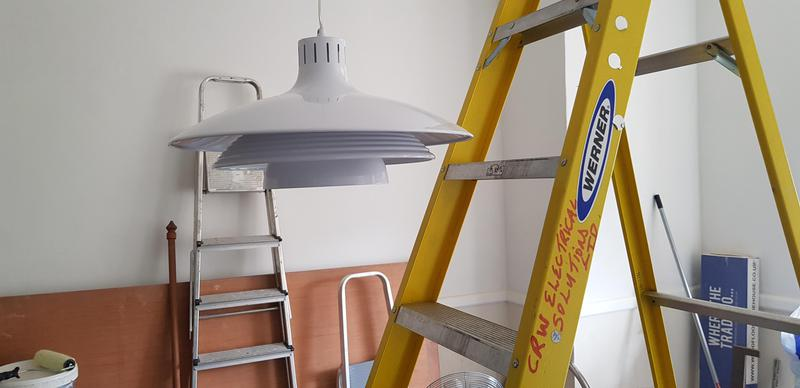 Image 5 - Streatham -       Long cabled contemporary pendant light installed.