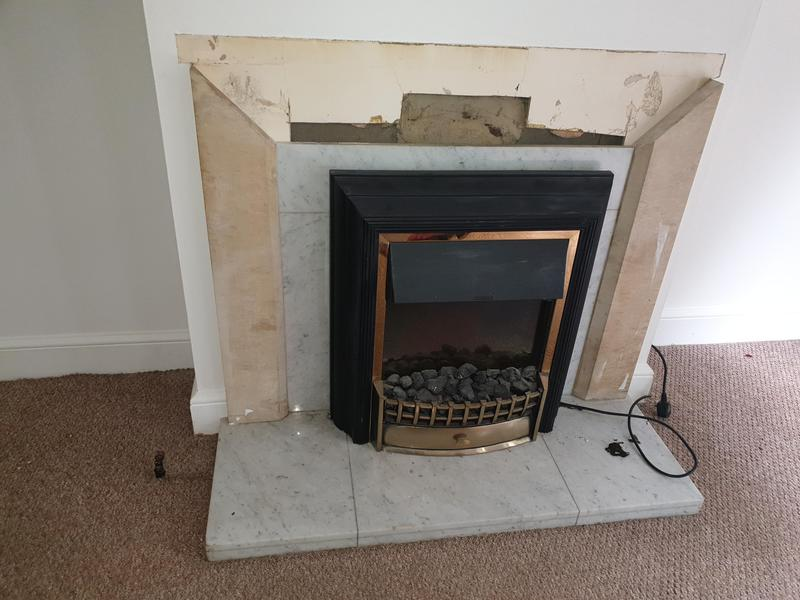 Image 23 - Removing fire place