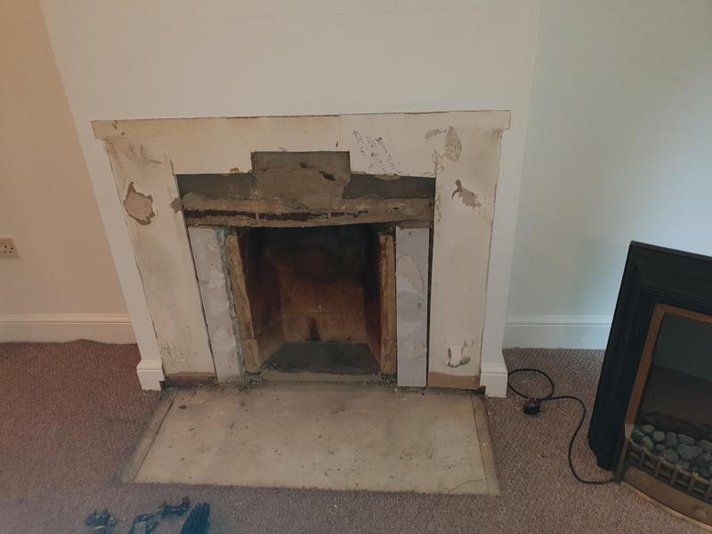 Image 22 - Removed fire place