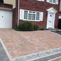 Image 26 - Block paving driveway with design