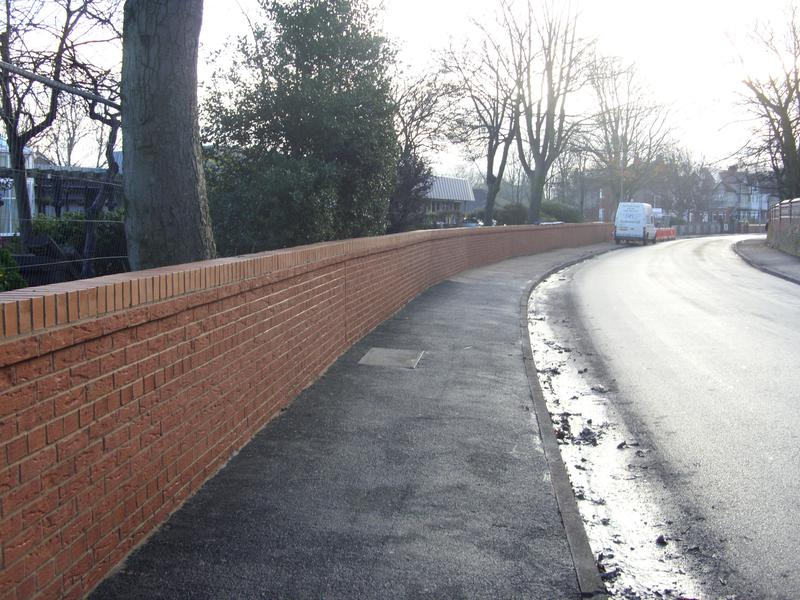 Image 29 - Public Highway Perimeter wall taken down and rebuilt