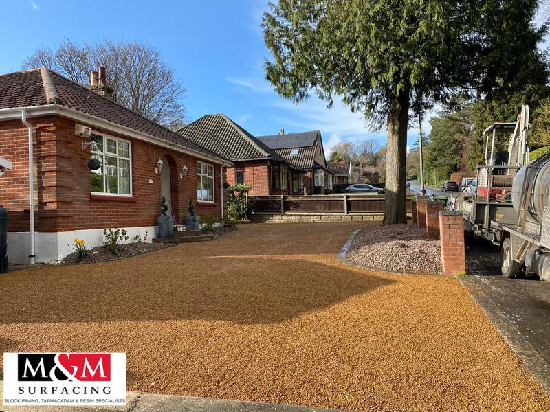 Image 1 - Tar and chip driveway completed
