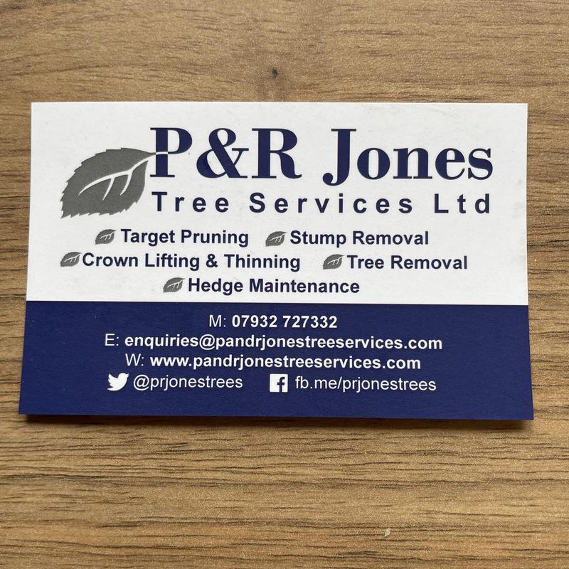 P&R Jones Tree Services Ltd logo