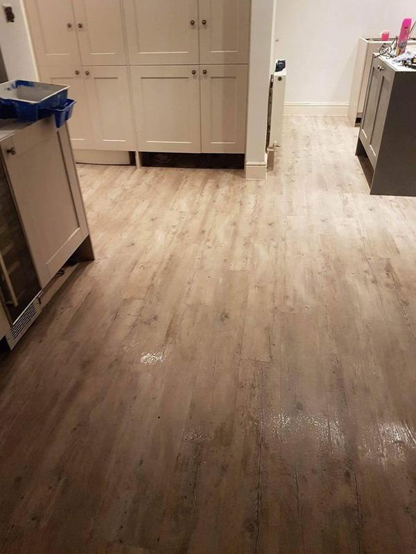 Image 22 - Wood effect plank vinyl flooring for large kitchen area. Perfect for an easy clean solution