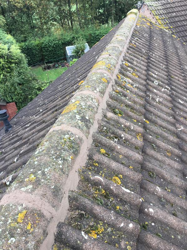 Image 104 - Ridge tiles repointed and re-bedded