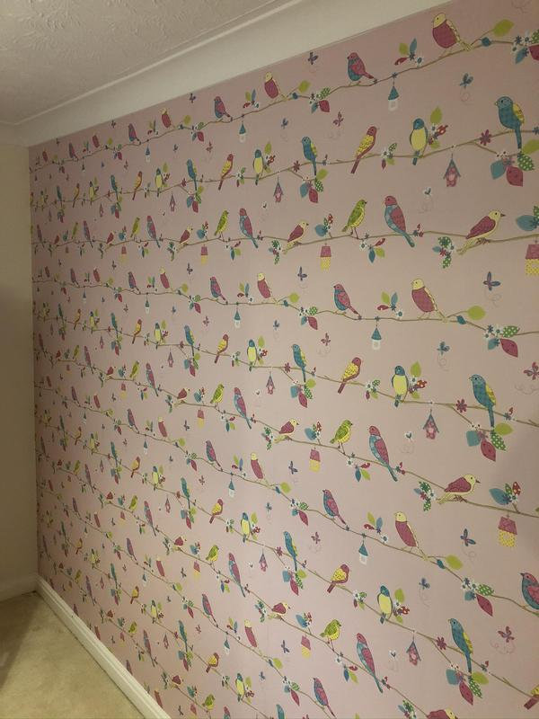 Image 3 - A feature wall paper hung.