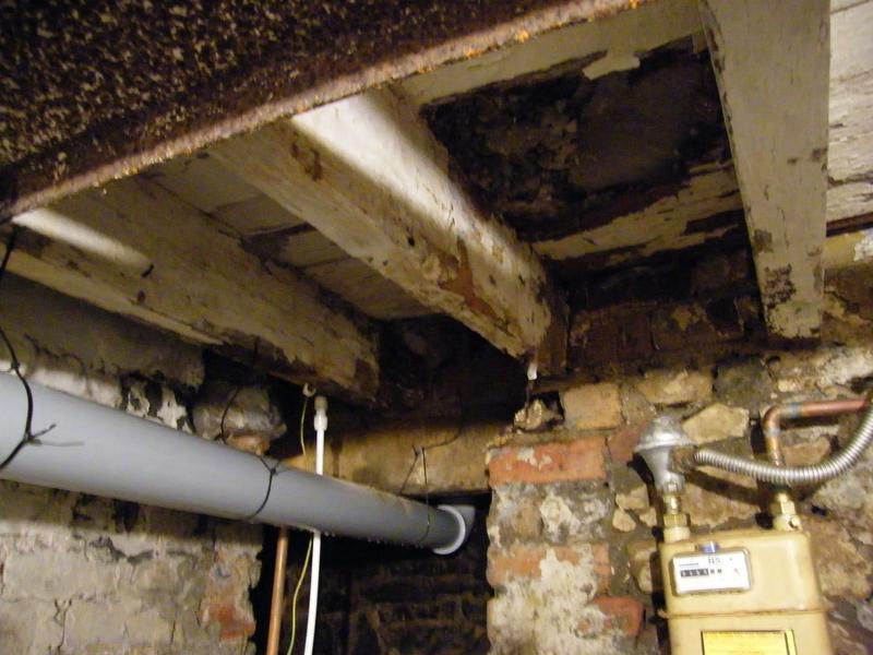 Image 17 - Wet rot in floor joists