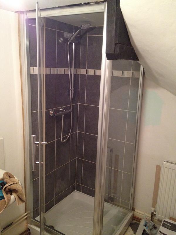 Image 42 - New shower installation