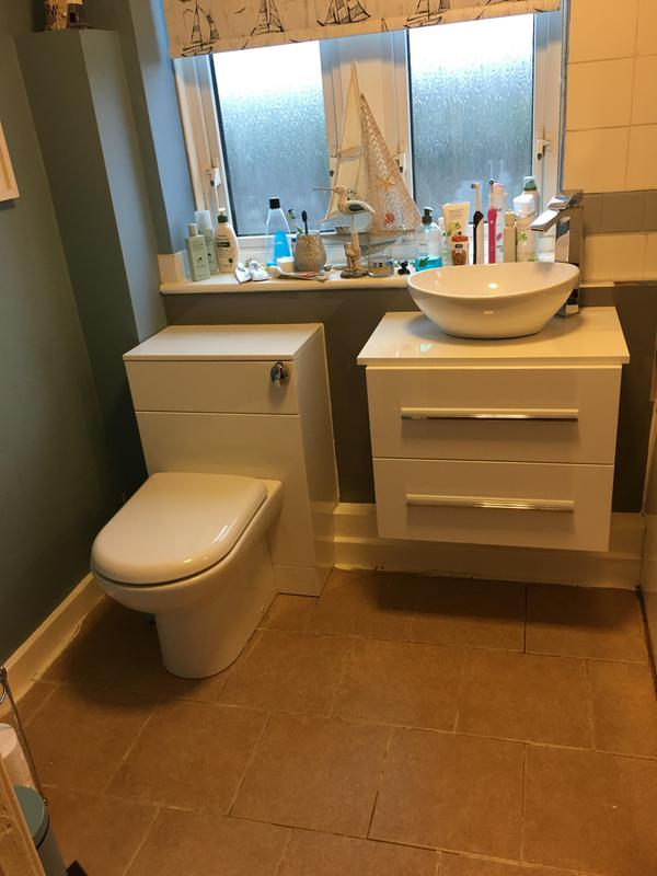 Image 24 - A new toilet and vanity unit to modernise a bathroom, with a bit of splash board over the tiles. Nice freshen up.