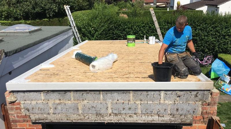 Image 16 - re-decking for a GRP fibreglass flat roof system