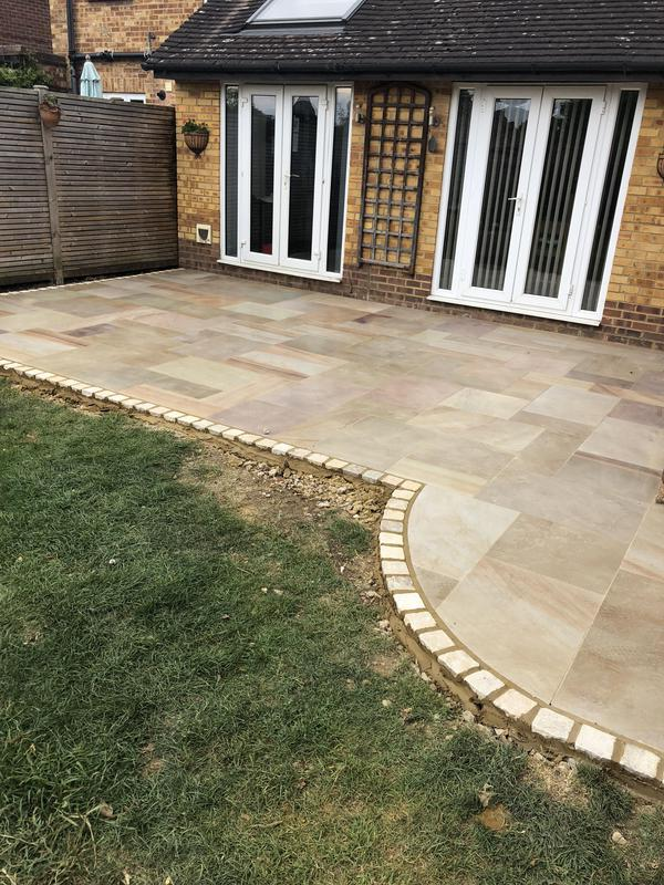 Image 27 - Sandstone Patio with edging stones