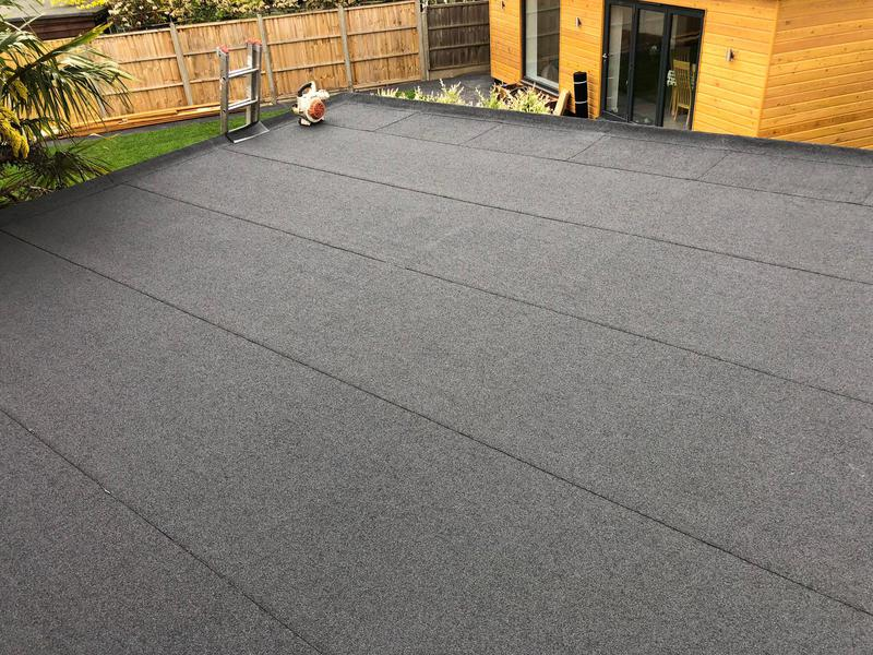 Image 22 - Garage flat roof finished in charcoal mineral in Egham